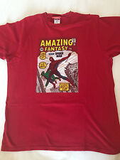 AMAZING SPIDERMAN TSHIRT MARVEL ROSSA AMAZING FANTASY 15 tg. M