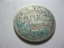 Suisse. Switzerland. 1 Franc. Argent. 1875
