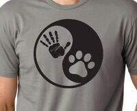 Paw Hand Print Yin Yang Dog Animal Rescue Adopted Pet Lover Sweatshirt