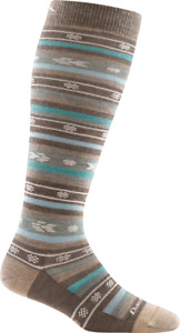 6041 Taupe DARN TOUGH Knee High Light-Weight Womens Socks S M L MERINO Wool