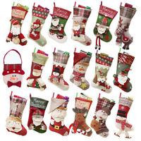 Christmas Stockings Socks Santa Claus Candy Gift Xmas Hanging Festival Decor 1pc