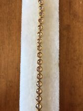 Touchstone Crystal Swarovski Golden Cappuccino Ice Bracelet NEW