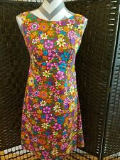 VINTAGE HAWAIIAN FASHIONS SEARS DRESS SIZE 8 NEVER WORN FLORWERS BRIGHT COLORS