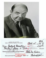 JOHN McGIVER  FILM STAR ACTOR  HAND SIGNED BANK CHEQUE / CHECK   1970  RARE ITEM
