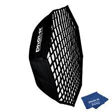 """Phot-R 38"""" Octagon Umbrella Flash Softbox Bowens Honeycomb Grid Microfibre Cloth"""
