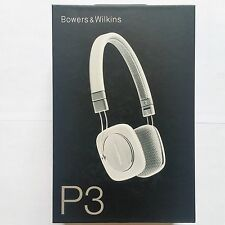 SEALED BRAND NEW Bowers & Wilkins P3 On Ear Wired Headphones Mic & Remote WHITE