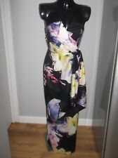 STUNNING Black Floral Maxi Dress Coast Style Is Zuzanna Size 8
