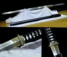 Hand Forge Japan Ninja Sect Shrine Samurai Full Tang Sword Katana Pattern Steel