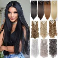 AU 8 Pieces Clip In Hair Extensions Full Head Natural As Human Real Long Thick