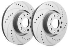 SP Performance Drilled & Slotted Rotors REAR PAIR - Ford/Linc/Mercury - F54-007