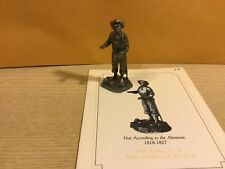 Saturday Evening Post Franklin Mint Pewter Figurine Not According The Almanac