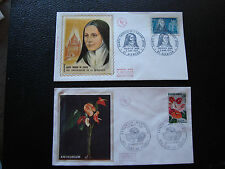FRANCE - 2 envelopes 1st day 1973 (anthurium/ste thérèse) (cy75) french