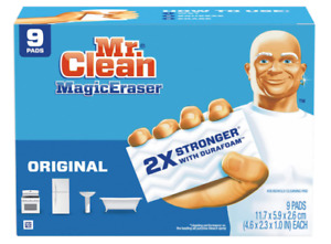 Mr. Clean Magic Eraser Original Cleaning Pads with Durafoam Shower, Oven 9 count