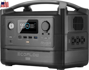 ⚡EF ECOFLOW RIVER Max Portable Power Station 576Wh Power Multiple Devices Silent