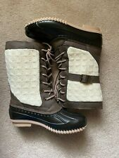 Maurices Gwen Knit Tall Winter Duck Boots Size 8 NEW Sold out