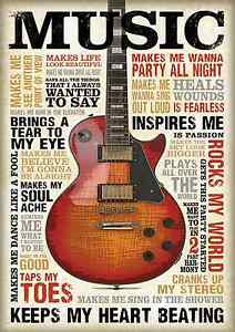 VINTAGE MUSIC POSTER PRINT WALL ART  LARGE  SIZE A4 A2 A1 A0