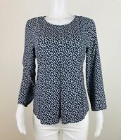 Ann Taylor Women Size L Multicolor 3/4 Sleeves Blouse Top Shirt. B26