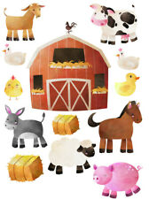 Farm Farmyard Animals Wall Stickers Nursery Style