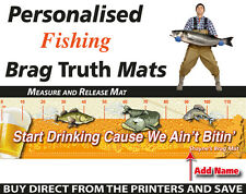 Personalised Fishing Measure And Release Mat Funny Beer Fish Brag Mat