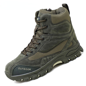 Tactical Military Boots Men Leather Army Trekking Camping Mountaineering Shoes