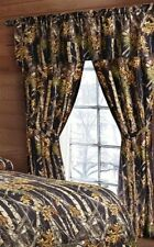"""The Woods©"" Black Licensed Curtain 5 Piece Camo Curtains Valance Tiebacks"