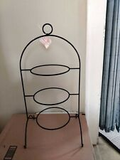 3-tier Wrought Iron Platter Stand (Display Rack for Serving Trays) with Tag