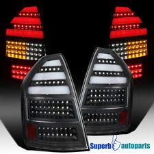 For 2005-2007 Chrysler 300C LED Bar Tail Lights Brake Rear All Black Lamps