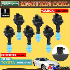 6x For Toyota Soarer Supra JZZ30 JZA80 1JZ-GTE 2JZGTE Twin Turbo Ignition Coil