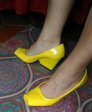 Scarpe gialle decolleté vernice 38 usate tacco 8cm
