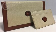 Vintage*DOONEY & BOURKE*Leather*Bone*Checkbook Cover & Card Case*17103G S165