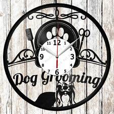 Dog Grooming Salon Vinyl Wall Clock Made Of Vinyl Record Original gift 2003