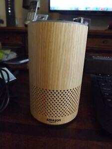 Amazon Echo, 2nd Generation, Oak Finish, Pre-owned, never used
