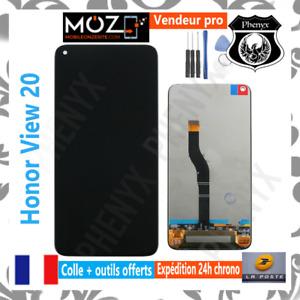 ECRAN LCD + VITRE TACTILE MOBILE HUAWEI HONOR VIEW 20 (PCT-L29) NOIR + COLLE