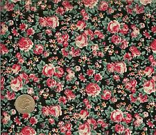 FLOWERS JUBILEE - CONCORD -  COTTON FABRIC - 2 YARDS