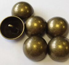 Real Metal Antique / Vintage Style Tarnished Brass / Bronze Buttons 23mm X 6pcs