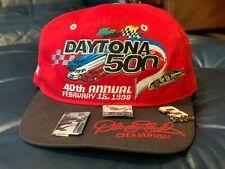 DAYTONA 500 1998 40TH DALE EARNHARDT BASEBALL CAP & 2 LAPEL PINS SNAPBACK NEW JP