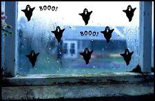Fantasma de Halloween Negro Pegatinas de vinilo decoraciones de ventana niños espeluznante Fiesta