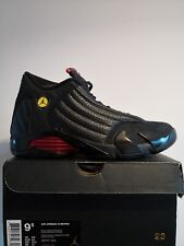 save off 03013 d2a0c Air Jordan 14 Retro Last Shot rouge et noir taille UK 8.5 EU 43 US 9.5