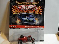Hot Wheels Drag Strip Demons Red Mike Zarnock's Altered Roadster signed by Mike