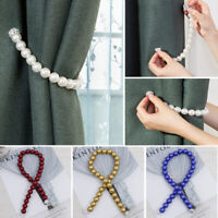 Magnetic Curtain Buckle Faux Pearl Tieback Clip Strap Holder Curtain Accessories
