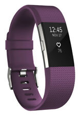 Fitbit Charge 2 Heart Rate Fitness Tracker, Large - Plum