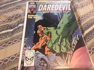 Daredevil #163 FN+ 6.5 Daredevil Vs Hulk Frank Miller Art