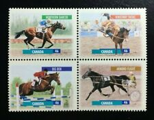 Canada #1791-1794a MNH, Canadian Horses Block of Stamps 1999