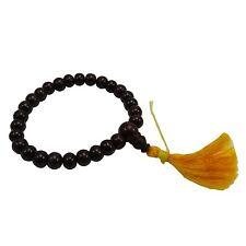 Indian Ornaments Rose Wood Black Rosary Wood Japa Mala Buddhist 5-7 mm 28 Beads