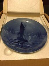 """Bing & Grondahl B&G Jule Aften 1918 'Fishing Boat.' 7"""" Christmas Plate Denmark"""