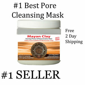 MAYAN'S INDIAN HEALING CLAY Deep Pore Cleansing Beauty Facial Mask- 1Lbs