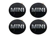 Mini Wheel Hub Cap Stickers 3D/ Domed Sharp X4 Fits Most Mini Vehicles