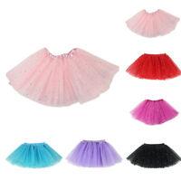 Girls Sparkle Glitter Sequins Stars Dance Ballet Tulle Tutu Skirt Princess Dress