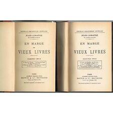En MARGE des VIEUX LIVRES Jules LEMAÎTRE de L'Odyssée à Bonaparte 1920-30 T1  T2