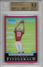 2004 Larry Fitzgerald Bowman Chrome Red Refractor RC- BGS 9.5 Gem Mint- #57/210